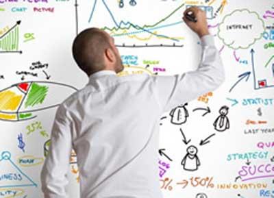 graphic designer planning