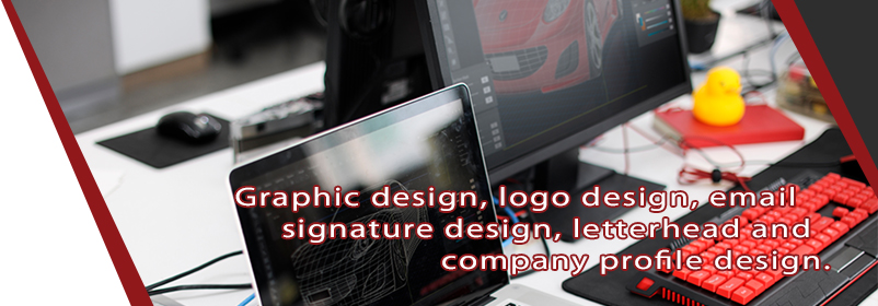Graphic design, logo design, email signature design, letterhead and company profile design.