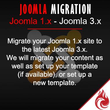 Joomla Migration 1.x - 3.x