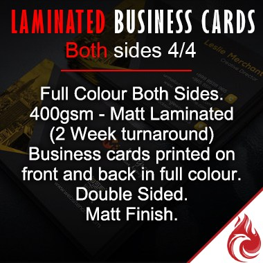 Matt Business Cards 4/4 Laminated