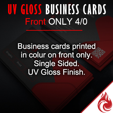 UV Gloss Business Cards 4/0